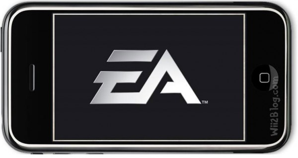 EA logo on an iPhone iPod Touch iOS