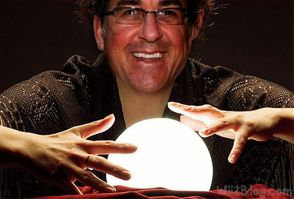Pachter gazing into a crystal ball