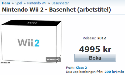 Pre-order Wii 2
