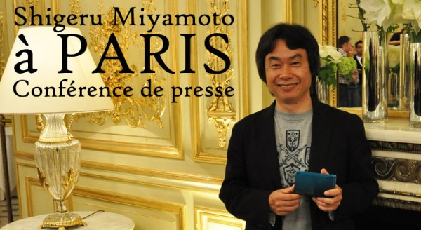 Shigeru Miyamoto Paris press conference