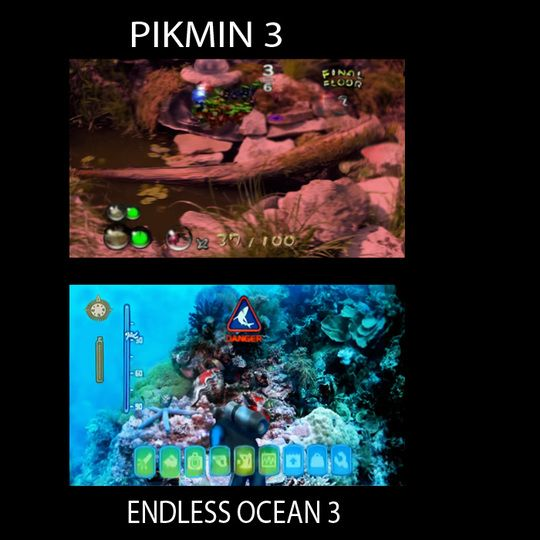 Pikmin 3 and Endless Ocean 3 (Emily Rogers)