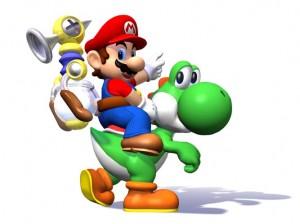 Mario riding Yoshi