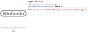 Amazon's Project Café listing