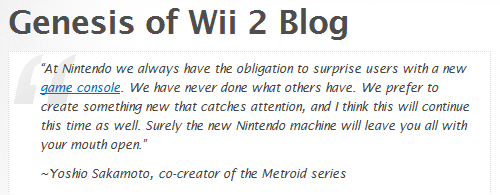 Genesis of Wii U Go