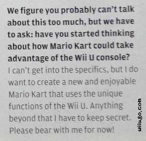 Hideki Konno teases Mario Kart Wii U in Nintendo Power