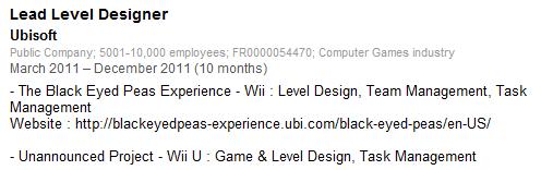 Damien Bernard - Ubisoft Wii U Card Game